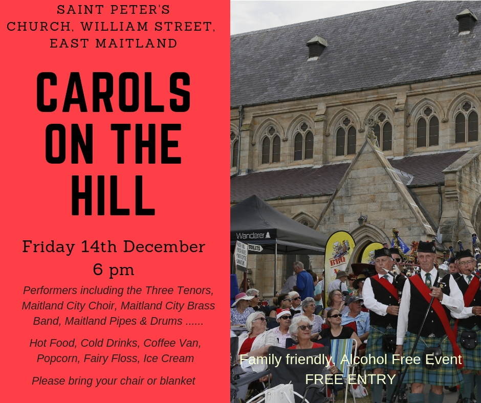 Carols on the Hill – Friday 14 December 2018 at6pm