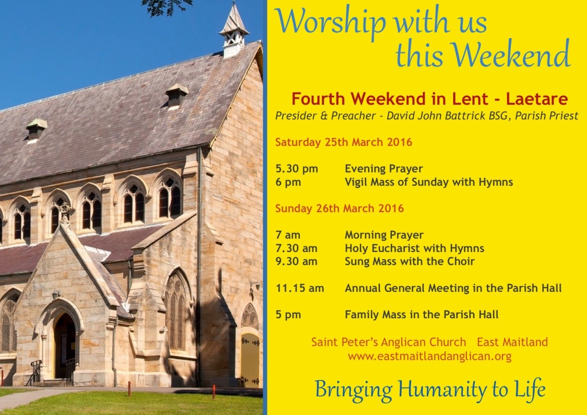 2017-03-26 Weekend Services