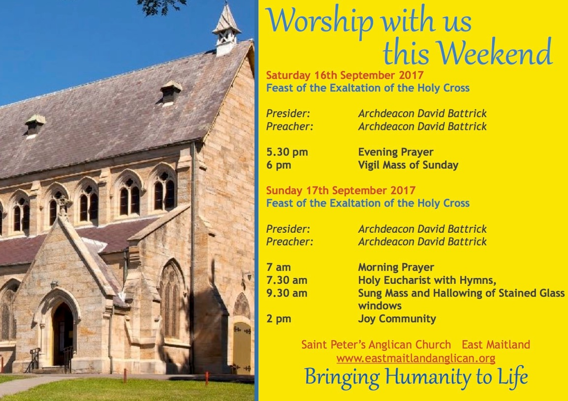 Worship with us thisWeekend