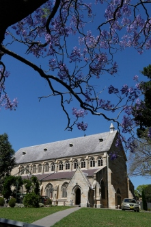 2017-10 Church & Rectory with Jacarandas 11