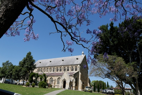 2017-10 Church & Rectory with Jacarandas 12