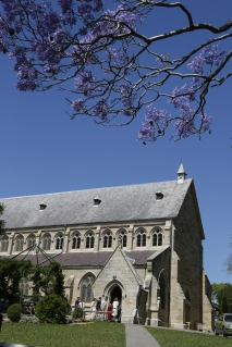 2017-10 Church & Rectory with Jacarandas 13