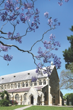 2017-10 Church & Rectory with Jacarandas 18