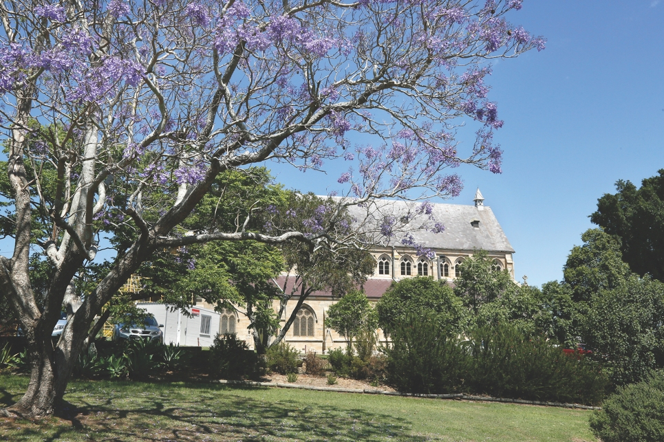 2017-10 Church & Rectory with Jacarandas 21