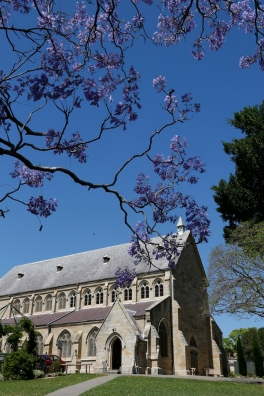2017-10 Church & Rectory with Jacarandas 23
