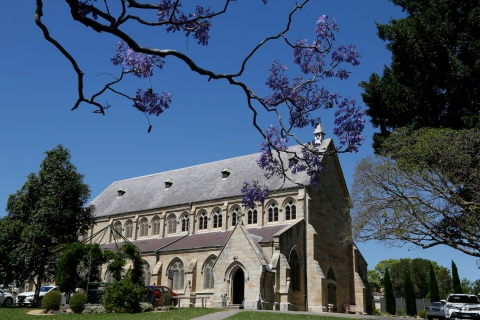 2017-10 Church & Rectory with Jacarandas 5