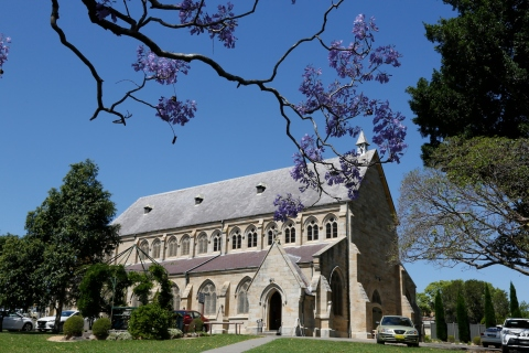2017-10 Church & Rectory with Jacarandas 6