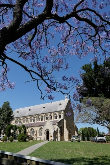 2017-10 Church & Rectory with Jacarandas 7