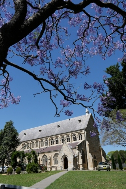 2017-10 Church & Rectory with Jacarandas 8