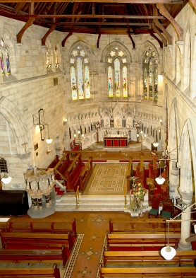 Aerial of Interior of Church - 3