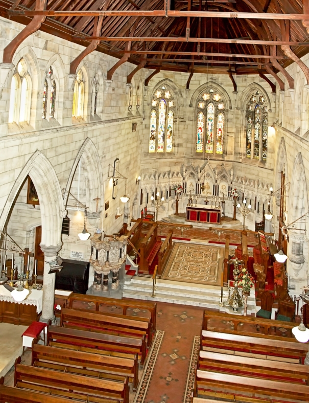 Aerial of Interior of Church - 4