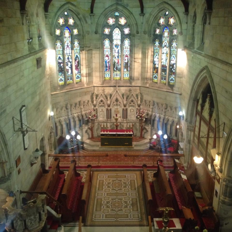 Aerial of Interior of Church - 5