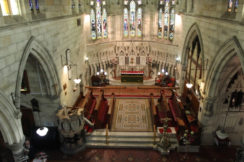 Aerial of Interior of Church - 7