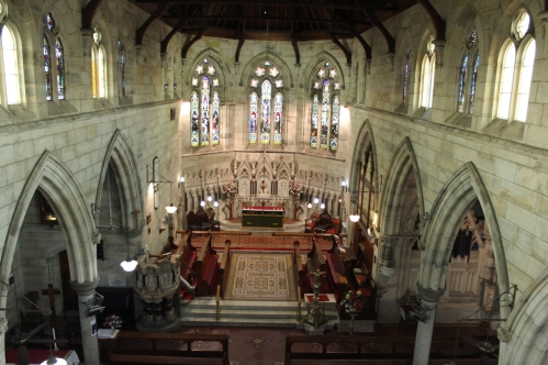 Aerial of Interior of Church - 8