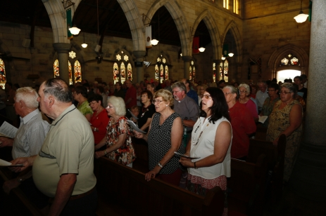 Church Interior with Congregation - 1