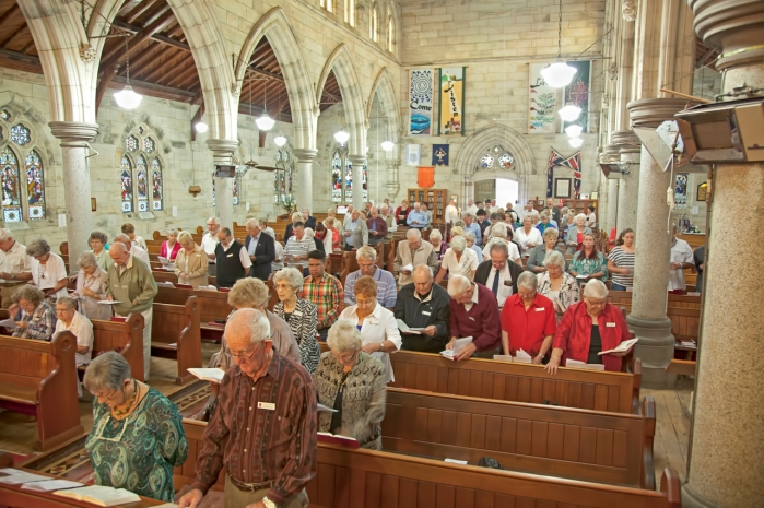 Church Interior with Congregation - 13