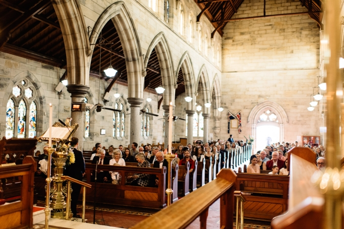 Church Interior with Congregation - 14