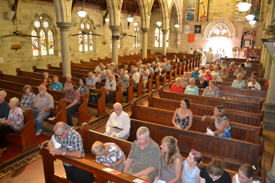 Church Interior with Congregation - 15