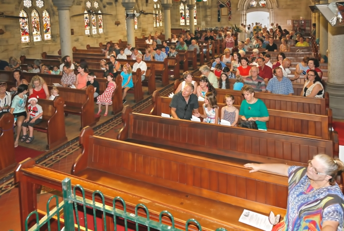 Church Interior with Congregation - 2