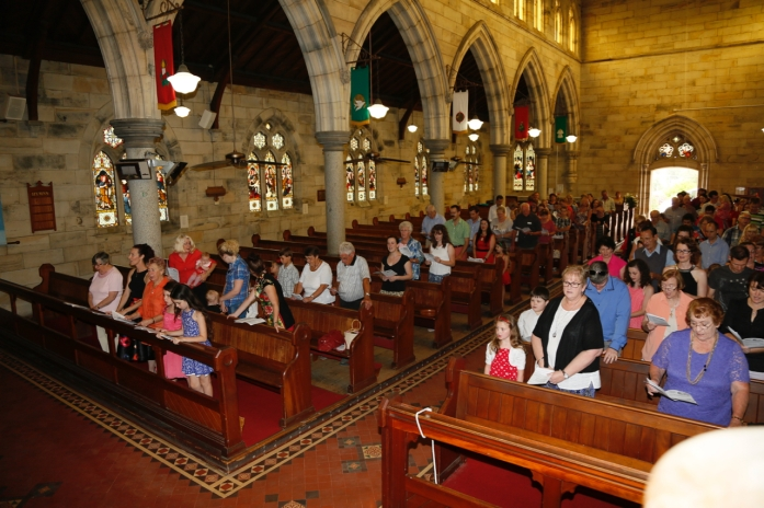 Church Interior with Congregation - 4
