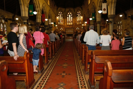 Church Interior with Congregation - 5