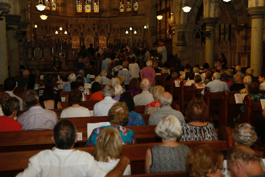 Church Interior with Congregation - 7